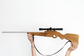 R - Wooden Toy Rifle with real scope - ROLSTON RIFLE
