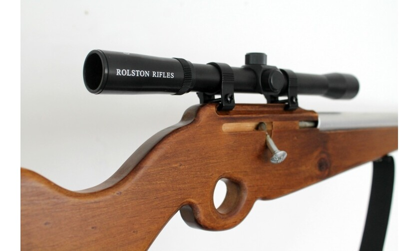 Needle and Nail | R - Wooden Toy Rifle with real scope - ROLSTON RIFLE