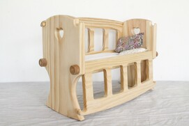 D - Wooden Doll's Cot